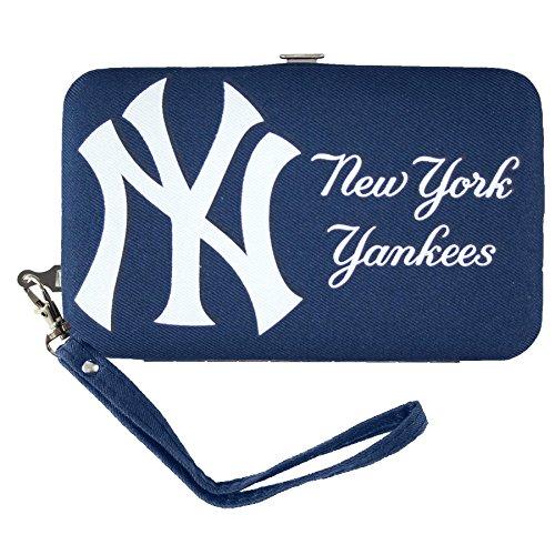 mlb-new-york-yankees-shell-wristlet-35-x-05-x-6-inch-blue