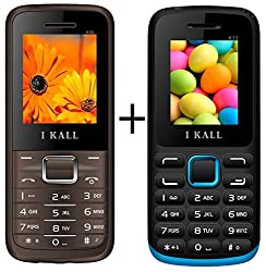 I KALL (K88Brown+K11Blue) Set Of Two Mobile Combo