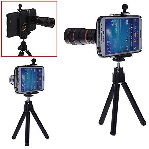 Neewer® Camera Lens Kit For Samsung Galaxy S4 Siv I9500 Including 8X Telephoto Lens / Fisheye Lens / Wide Angle Lens / Macro Lens / Mini Tripod / Universal Phone Holder / Protective Hard Case / Velvet Phone Bag / Microfiber Cleaning Cloth - Awesome Photog