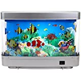 Aquarium lamp fish mirror frame moving picture for Fake fish tank with moving fish