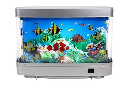 Lightahead Artificial Tropical Fish Aquarium Decorative Lamp with Multi Colored Artificial Fish and Ocean in Motion (Moving Fish compare prices)