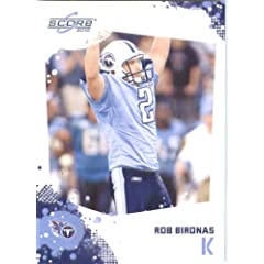 Rob Bironas - Tennessee Titans - 2010 Score Football Card - NFL Trading Card in...