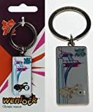 Official Olympic Mascot of Wenlock Running on Tower Bridge White Metal Key Ring or Key chain as a Souvenir of Olympics