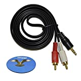 HQRP Stereo RCA to 3.5mm Audio Cabl