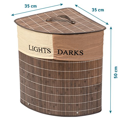 tatkraft-monaco-corner-bamboo-laundry-basket-with-cotton-bag-2-sections-for-lights-darks-48l-35x35x5