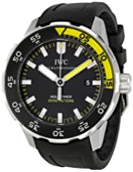 IWC Aquatimer Black Dial Rubber Strap Automatic Mens Watch 3568-10