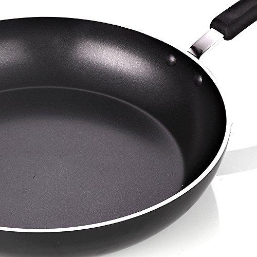 "Cook N Home 02498 Nonstick Heavy Gauge Saute Skillet Fry Pan, 12""/30cm, Black"