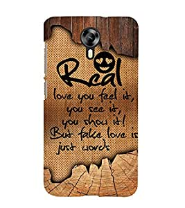 Real Love You Feel it 3D Hard Polycarbonate Designer Back Case Cover for Micromax Canvas Xpress 2 E313 :: Micromax Canvas Xpress 2 (2nd Gen)