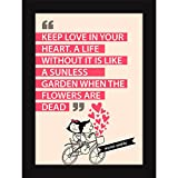 Framed Love Quotes On Family - Wall Art Poster For Home Room And Office Decor - Keep Love In Heart