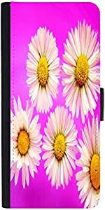 Snoogg daisies Graphic Snap On Hard Back Leather + PC Flip Cover One Plus One
