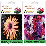Alkarty Mid Day And Sweet Peas Spencer Mixed Flower Seeds Pack Of 20 (Winter)