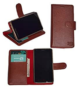 R&A Pu Leather Wallet Flip Case Cover With Card & ID Slots & Magnetic Closure For Samsung Galaxy S2