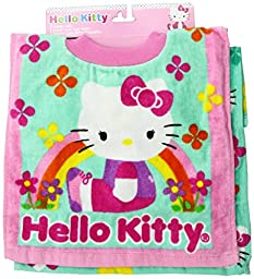 Neat Solutions Hello Kitty Fiber Reactive Toddler Pullover Bib, Flowers, 2 Pack