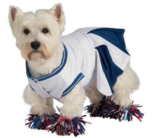 Deluxe Cheerleader Pet Costume, Large - 1