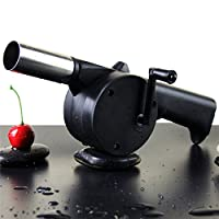 Outdoor Cooking BBQ Fan Hand Fan Cranked Outdoor Picnic Camping BBQ Barbecue Tool Fan/Blower Barbecue Fire -All U Need