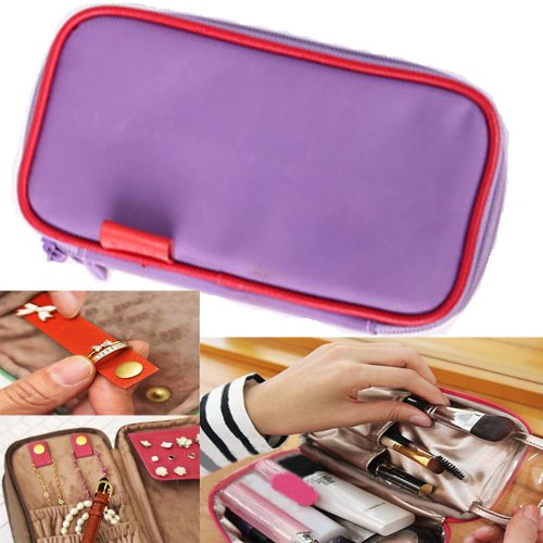 Waterproof Bag Organiser/Cosmetic Case/Jewellery Case/Travel Organiser(Light Purple)