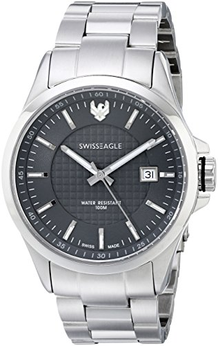 Swiss Eagle Men'S Se-9035-33 Corporal Analog Display Swiss Quartz Silver Watch