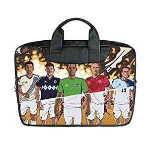 INSTALL AND EASY TO CARRY Wear& Slim &Dapper Soccer Custom Waterproof Nylon Bag for Laptop 11 Inches(Twin sides)