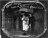 Photo: Photo,Don't Forget your Umbrella or Other Parcels,Movie Theater Etiquette,c1912