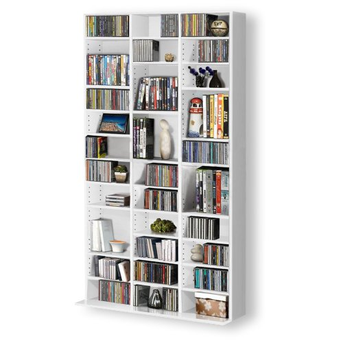1116 CD/528 DVD Storage Shelf Rack Unit Adjustable Book Bluray Video Games(White) Black Friday & Cyber Monday 2014