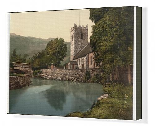Canvas Artwork of Grasmere Church, Lake District, England