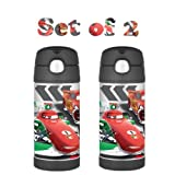 Thermos Funtainer Bottle, Disney's Cars (2 PACK)