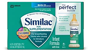 Similac For Supplementation Infant Formula with Iron, Ready-to-Feed Bottles, 2 Ounce, 48 count (Packaging May Vary)
