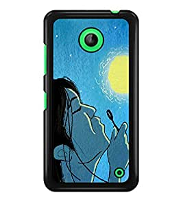 PRINTSWAG GIRL WITH MOON Designer Back Cover Case for NOKIA LUMIA 630