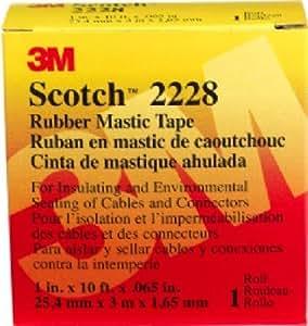 3M 2228 Scotch Moisture Sealing Electrical Tape, 1 in x 10 ft x 0.65 in