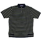 Size【XL】Ralph Lauren(ラルフローレン) Purple Label ボーダー柄ポロシャツ【紺黄】【新品】