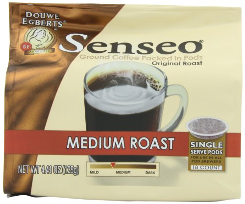 Senseo Coffee Pods, Medium Roast, 18 Count (Pack of 4)