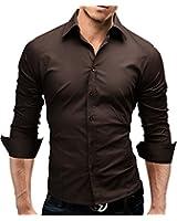 Merish Hemd Slim Fit 14 Farben Größen S-XXL Herren Modell 01