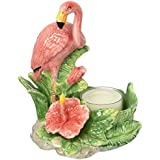 CG 48513 Tea Light Candle With Painted Pink Flamingos