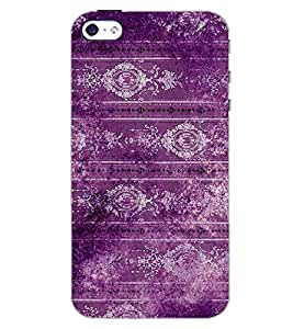 PrintDhaba MAGENTA PATEERN D-6791 Back Case Cover for APPLE IPHONE 4 (Multi-Coloured)