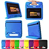 "Fintie Casebot Kiddie Series Light Weight Shock Proof Handle Case for Kids Specially made for Kindle Fire HD 7 (will only fit Kindle Fire HD 7"" 2nd Generation 2012), Blue"