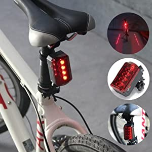 led wasserfest fahrrad laser beleuchtung r cklicht licht leuchte lampe bremslicht. Black Bedroom Furniture Sets. Home Design Ideas