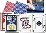 51sGkUzqW%2BL. SL160  COPAG 100% Plastic Poker DUAL INDEX Spielkkarten   Farbe: blau (pro Stück)