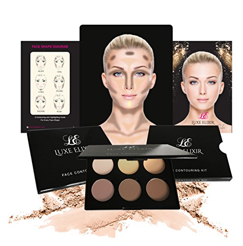 51sGkXDHm%2BL UK CONTOUR KIT  Premium Highlighting and Contour Palette with Pigmented Face Powder   Step by Step Contouring Guide Included