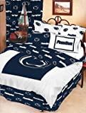 PENN STATE Nittany Lions Dorm Bedding Set: Dorm-Room-In-a-Box: Comforter, Sheet Set, Mattress Pad, Pillow, Towel set-Twin XL 10 Pc SET