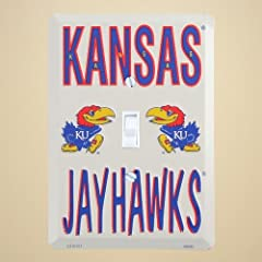 Buy Kansas Jayhawks Metal Light Switch Cover by Tag City Novelty Signs