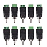 Bluecell 10pcs Phono RCA Male Plug to AV Screw Terminal Plug Connector