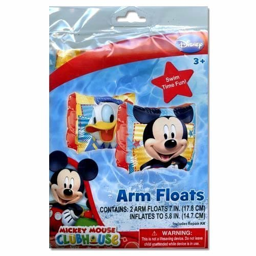 Mickey Mouse Inflatable Arm Floats Featuring Mickey Mouse and Donald Duck