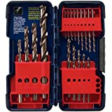 Bosch CO18 18-Piece Cobalt Twist Drill Bit Assortment in Plastic Case