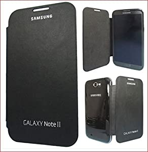 Samsung Galaxy Note 2   Flip Cover   Black available at Amazon for Rs.79
