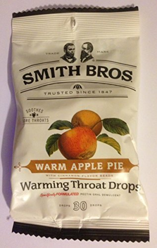 Pack Of 6 Warm Apple Pie Warming Throat Drops 30 Drops=180 Drops by Smith Bros (Smith Brothers Apple Pie compare prices)