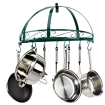 Kinetic Semi-Circle Wrought Iron Pot Rack