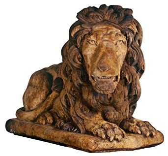 Henri Studios Grand Lion Facing Right Garden Sculpture