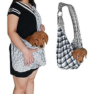 Pet Sling Carrier , KSTON Small Dog Cat Sling Pet Carrier Bag Safe Reversible Comfortable Machine Washable Ddjustable Pouch Single Shoulder Carry Tote Handbag for Pets Below 9.9 lb