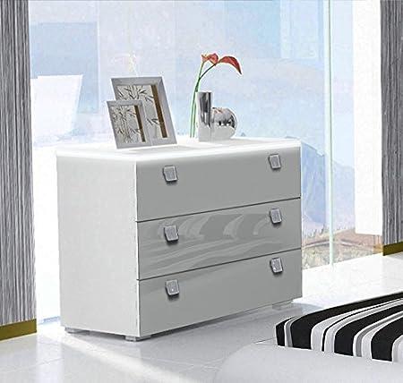 Design Ameublement - Commode Alicante en couleur blanc avec LED blanc