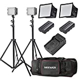 Neewer 160 LED light kit Dimmable Ultra High Power Panel Digital Camera/Camcorder Video Kit (2-Pack)
